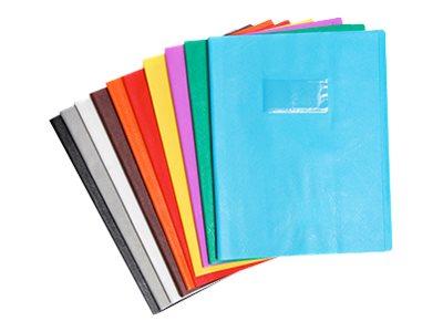 Calligraphe - Protège cahier sans rabat - 17 x 22 cm - grain cuir - bleu