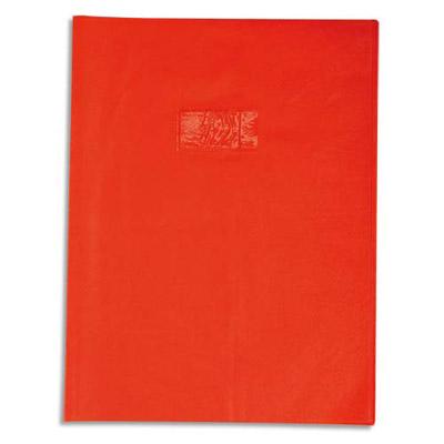 Calligraphe - Protège cahier sans rabat - A4 (21x29,7 cm) - grain losange - rouge