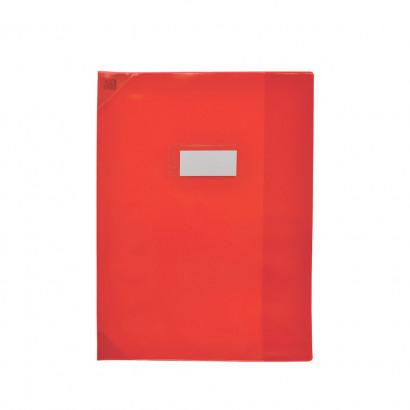 Oxford Strong Line - Protège cahier sans rabat - A4 (21x29,7 cm) - rouge translucide