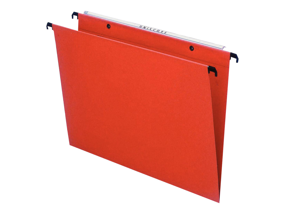 Esselte Kori - 25 Dossier suspendus pour tiroirs - orange - fond 30 mm