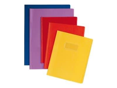 Calligraphe - Protège cahier sans rabat - A4 (21x29,7 cm) - grain cuir - jaune