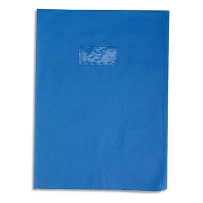 Calligraphe - Protège cahier sans rabat - 24 x 32 cm - grain losange - bleu